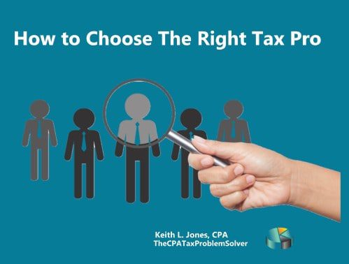 How to Choose the Right Tax Professional