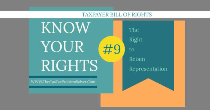 No. 9 The Right to Retain Representation